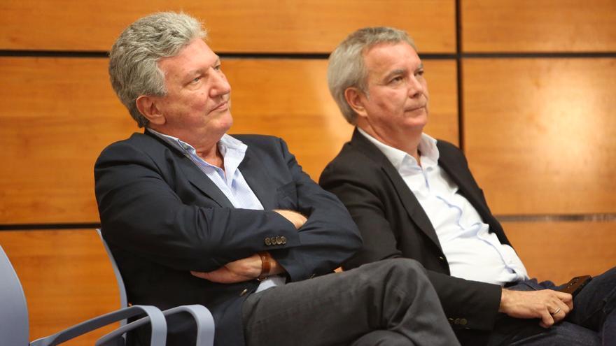 Pedro Quevedo y Sebastián Franquis en un mitin en Bañaderos (Arucas)