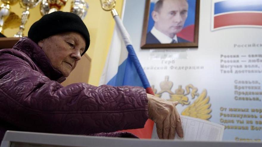 El partido de Putin vuelve a arrasar en unas legislativas con baja participación