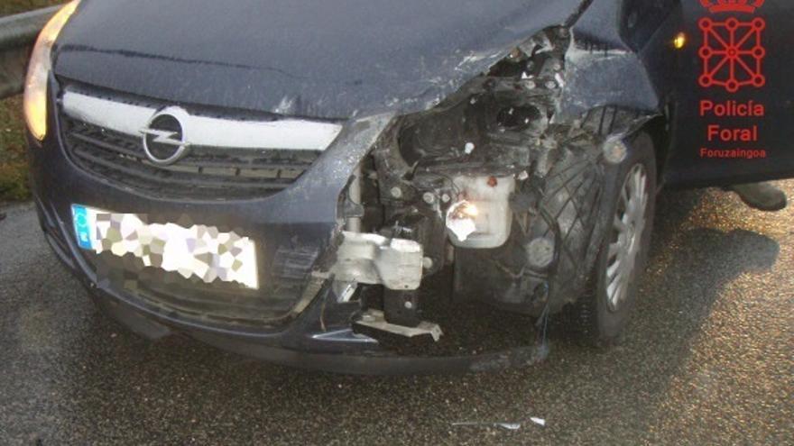 La Policía Foral atiende 29 accidentes de tráfico este fin de semana