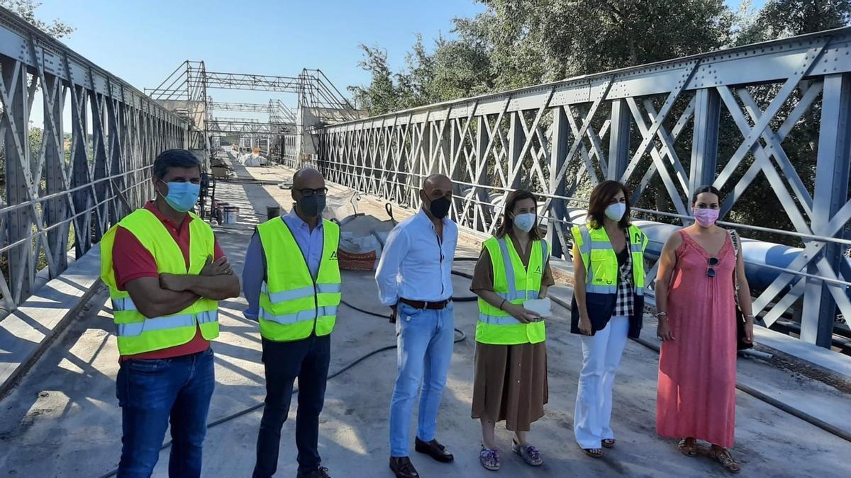 Visita a las obras del puente de Palma del Río