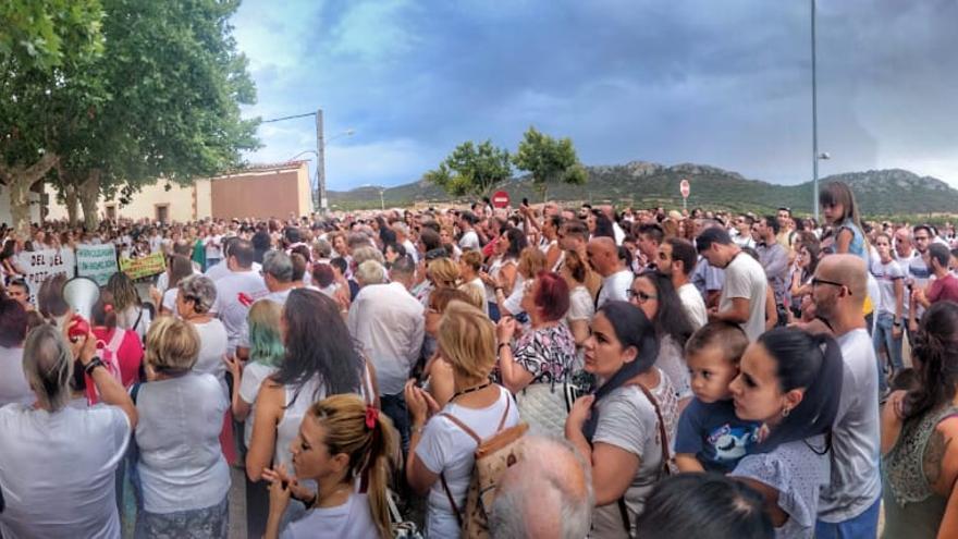 Manifestación en Almadén