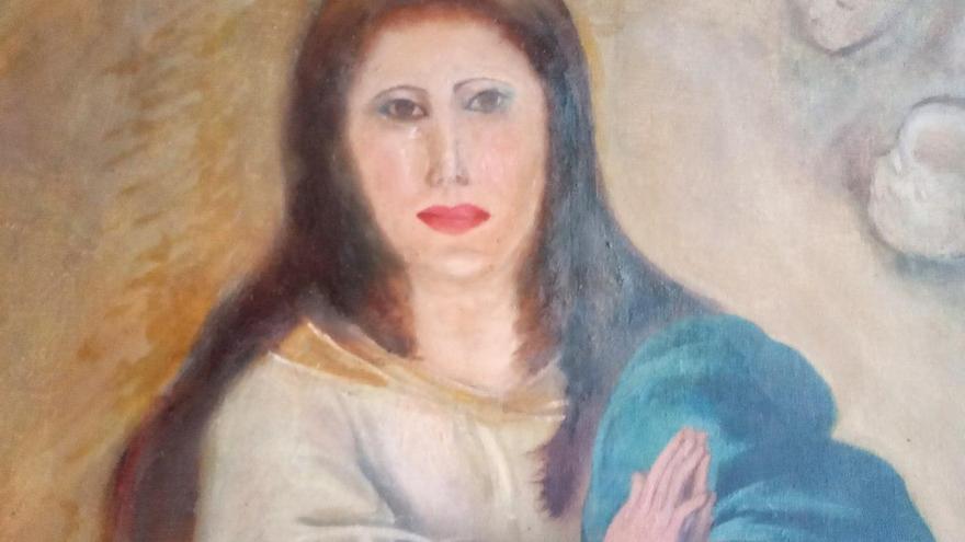 Detalle del resultado final del cuadro originalmente de Murillo.