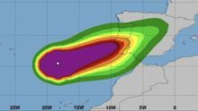 Evolución del huracán 'Leslie'.