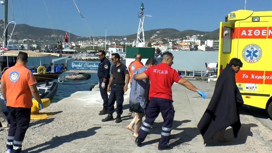 Las autoridades griegas inquietas por la llegada de 200 migrantes africanos a Lesbos
