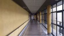 Un pasillo del Hospital General de La Palma.