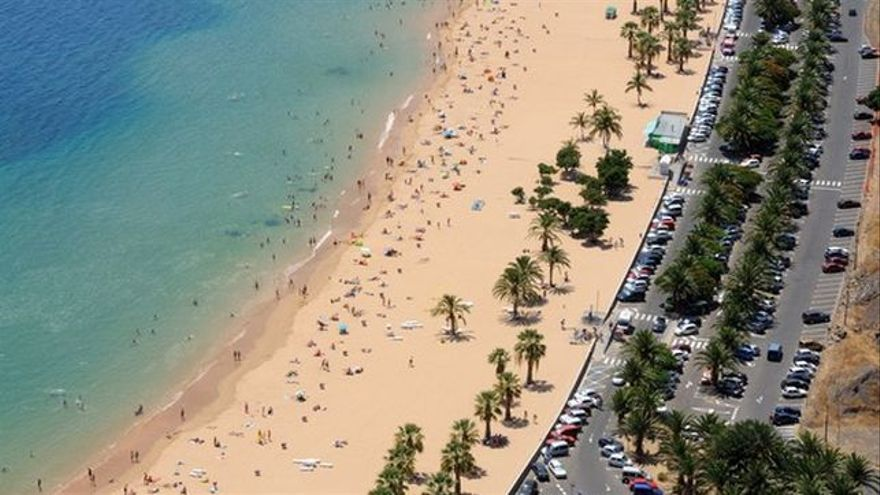 Playa de Las Teresitas, en la capital tinerfeña.