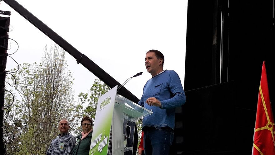 """Otegi llama a conseguir """"más de un millón de votos"""" para """"hacer frente a la derecha"""""""