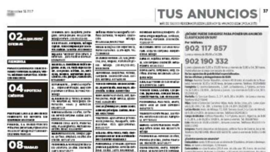 Publicidad en un diario del grupo Vocento esta semana.