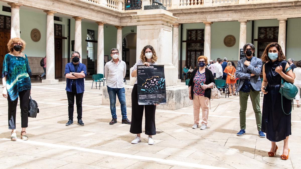 Un moment de la presentación del festival Serenates a La Nau de la Universitat de València.