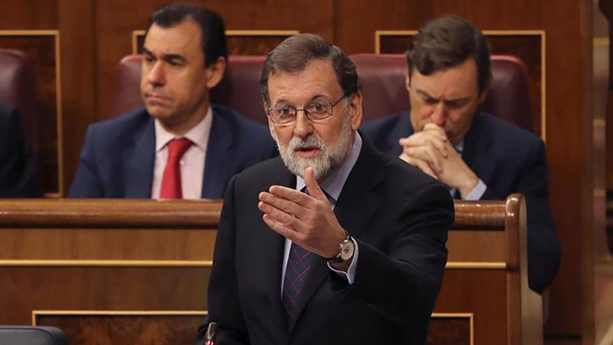 Mariano Rajoy en una sesión de control en el Congreso de los Diputados