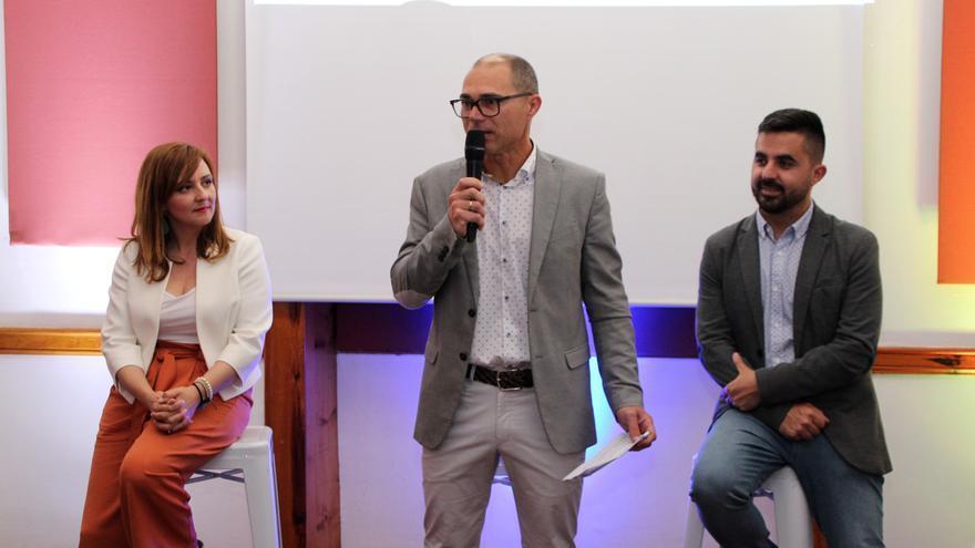 Lady Barreto, José María Pestana y Onán Cruz, en la presentación de la candidatura de CC al Ayuntamiento de Villa de Mazo.