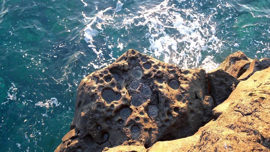 Saliente rocoso en la Punta del Charco (Mazo).
