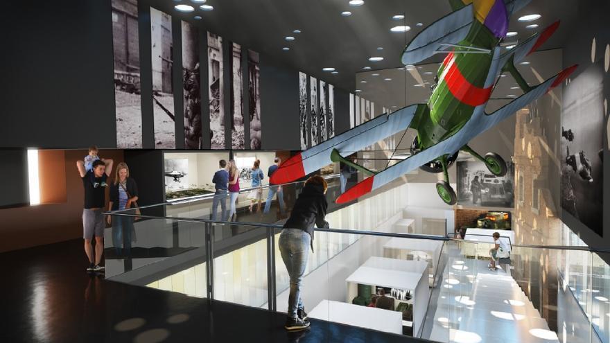 Recreación del interior del futuro Museo de la Guerra Civil de Teruel