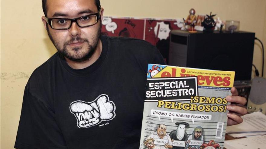 Una decena de humoristas deja El Jueves tras la la retirada de la portada sobre el Rey. En la foto, Albert Monteys, exdirector de la revista. EFE