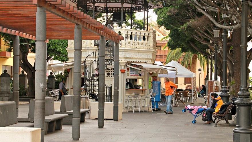 Imagen de archivo del quiosco de la emblemática Plaza de La Alameda de Santa Cruz de La Palma. Foto: palmerosenelmundo.com