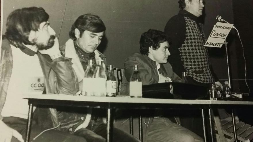 Imagen del primer Congreso de CCOO Albacete en el año 1977