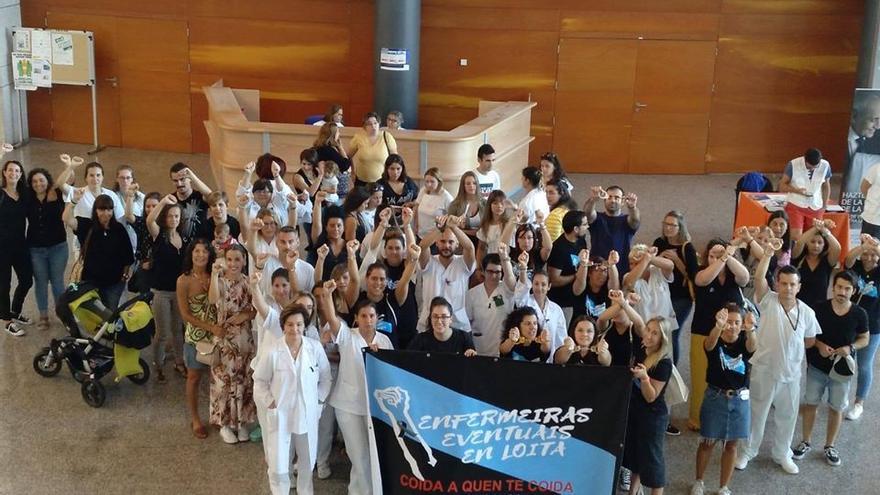 Movilización de enfermeras eventuales en un hospital gallego