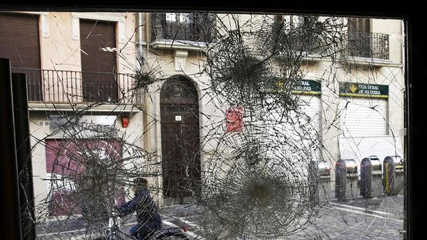 La Audiencia Nacional ve terrorismo en los incidentes en el casco viejo de Pamplona