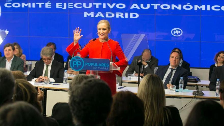 La presidenta de la Comunidad de Madrid y del PP madrileño, Cristina Cifuentes.