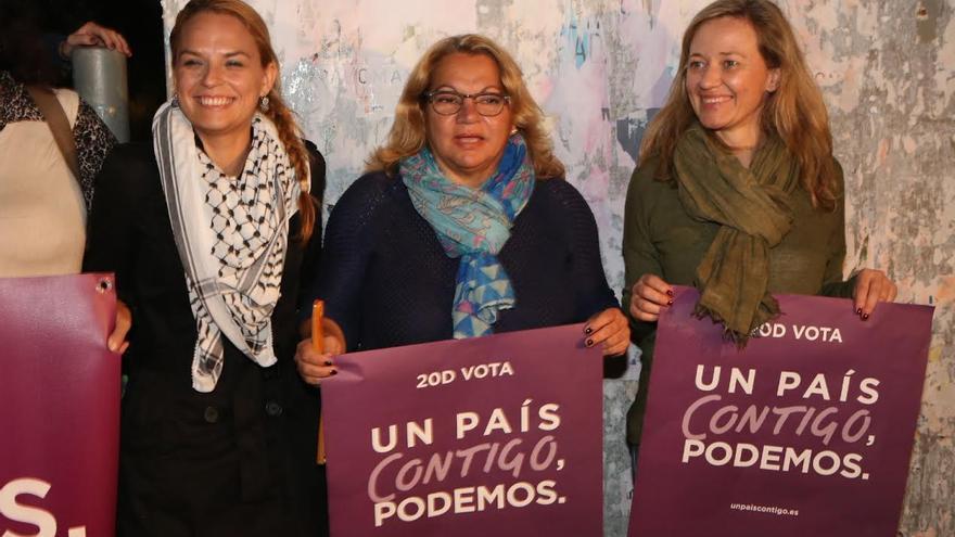 Noemí Santana, Meri Pita y Victoria Rosell (Podemos).