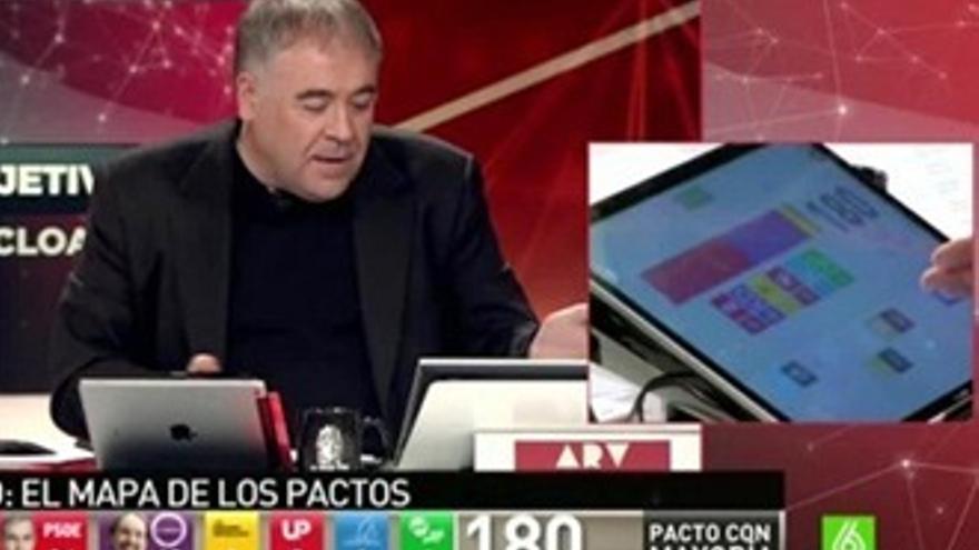 Ferreras, estrella de los 'memes' con su pactómetro y tatuaje de 'El Mundo Today'