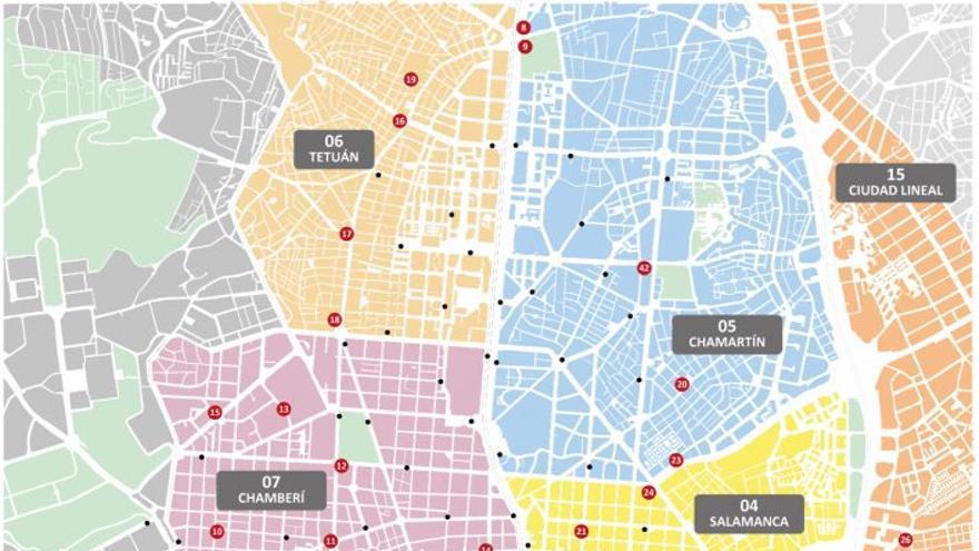 Plano de ampliación del servicio de BiciMAD