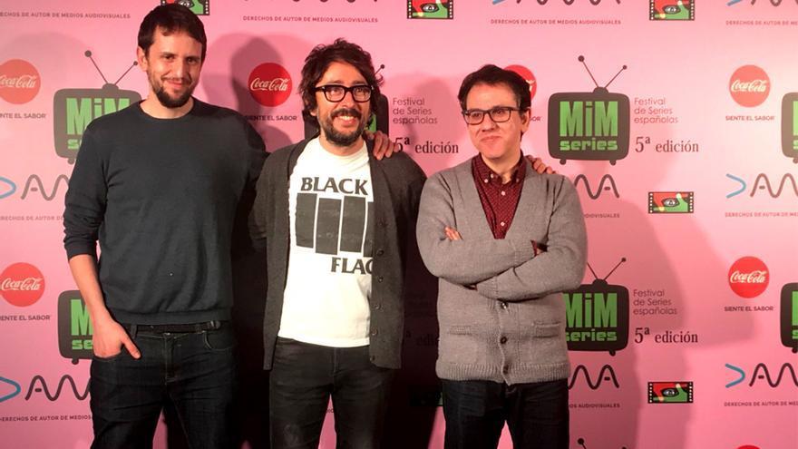Miguel Esteban, Flipy y Antonio Trashorras en la 5ª edición del festival MiM Series