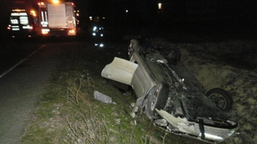 Accidente De Tráfico Ocurrido En Viana.