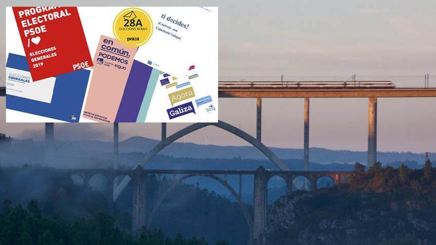 Los principales partidos siguen apostando por el ferrocarril como principal promesa en materia de infraestructuras para Galicia