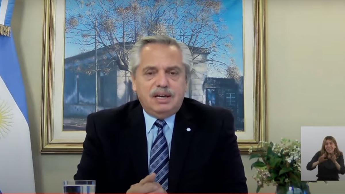 El presidente Alberto Fernández participó de manera remota