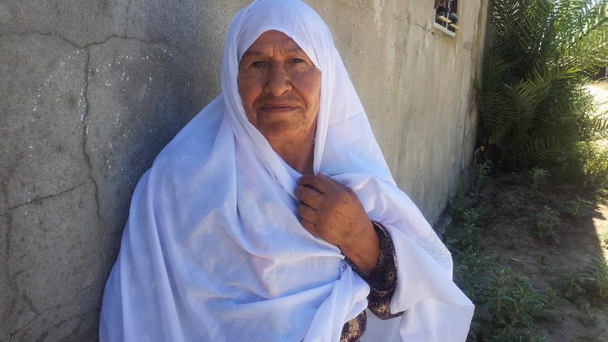 Khadra Abula'yim vivió la Nakba con 7 años y tuvo que huir sola. / Isabel Pérez.