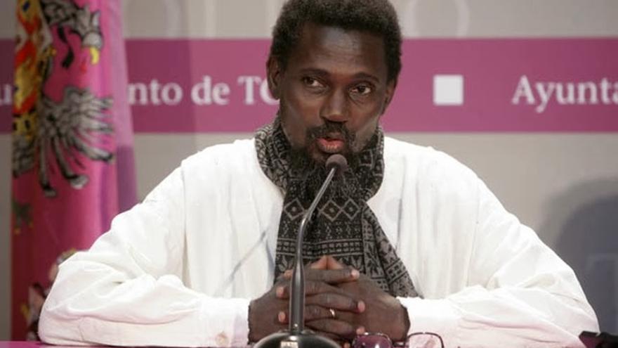 Ismaël Diadié en Toledo con motivo de la Medalla de la Oro del Ayuntamiento