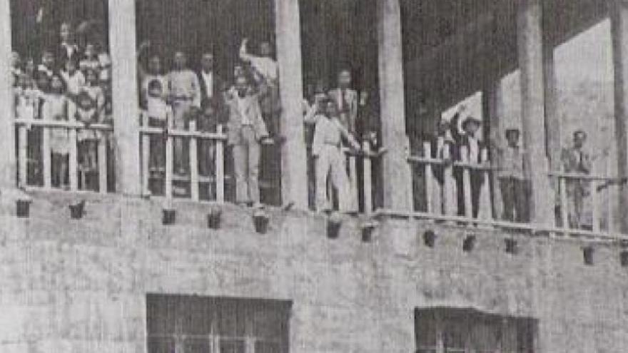 Sede de la Federación Obrera de Vallehermoso durante el fogueo