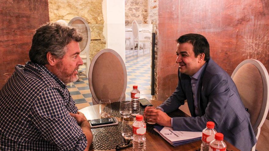 Juan López de Uralde y Francisco Martínez Arroyo en el Restaurante HOPE- Mercado de San Agustín (Toledo)