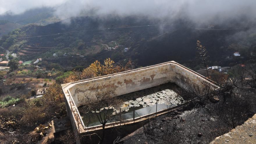 Efectos de las llamas en Gran Canaria