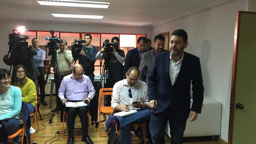 El portavoz de C´s, Miguel Sánchez