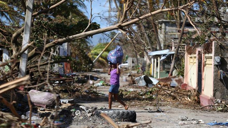 Imagen de archivo de Haití tras el paso del huracán Matthew el 7 de octubre de 2016.