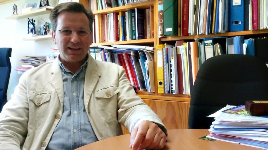 Xavier Vence, en un momento de la entrevista