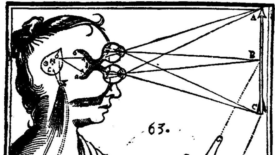 Diagrama de una obra de Descartes.