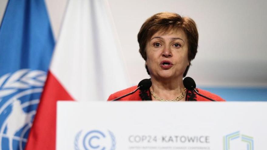 En la imagen, la gerente del Fondo Monetario Internacional (FMI), Kristalina Georgieva.