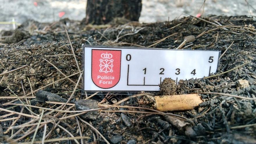 La Policía Foral localiza ADN en la colilla que inició el incendio de Tafalla