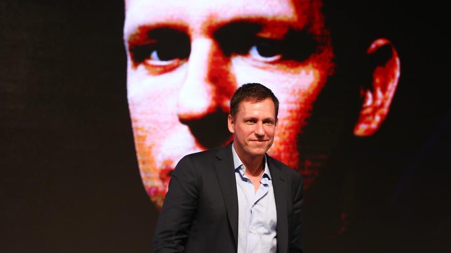 Peter Thiel en un foro empresarial en Pekín en febrero de 2015.