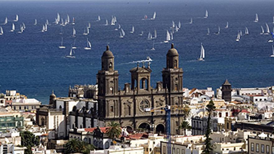 Vista de la catedral de LPGC. (CANARIAS AHORA)