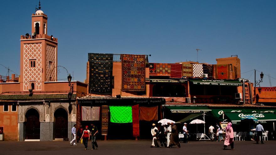 Plaza de Jemaá El Fna, en la ciudad de Marrakech.