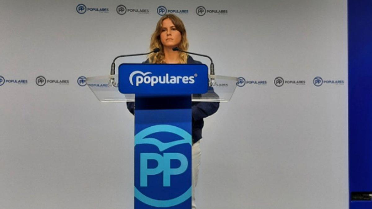 Bea Fanjul en una rueda de prensa en Bilbao este jueves