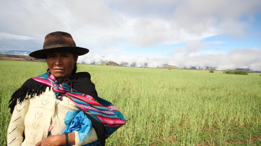 Mujer indígena yampara, en la comunidad de Pilatorre del municipio de Icla. (Ayuda en Acción)