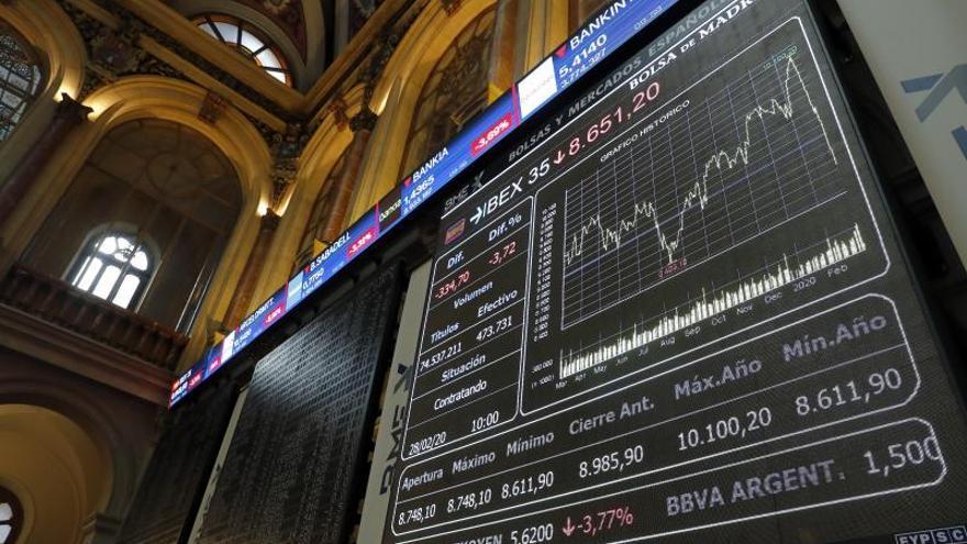 La Bolsa española rebota el 1,8 % tras registrar su peor semana en una década