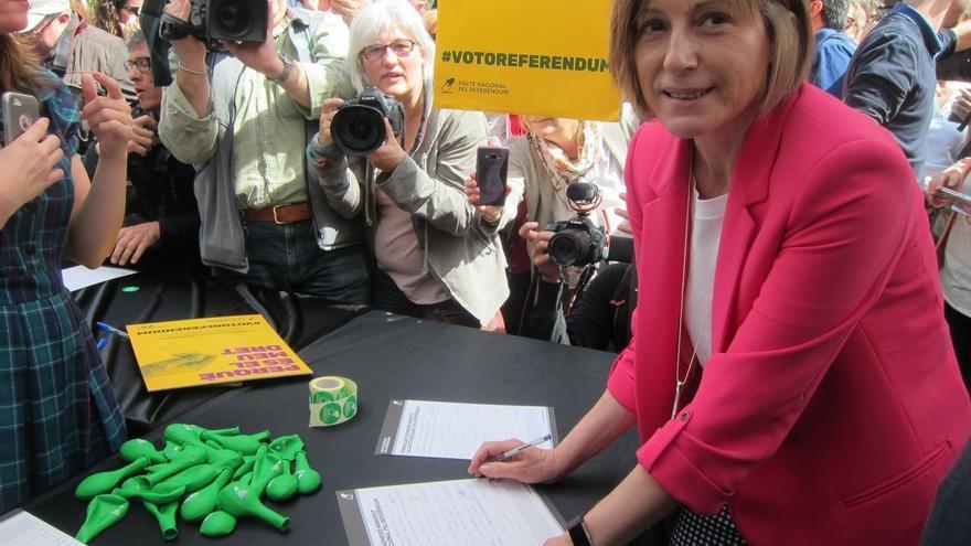 """Forcadell dice que """"ninguna acción represiva o jurídica"""" impedirá el referéndum del 1-O"""
