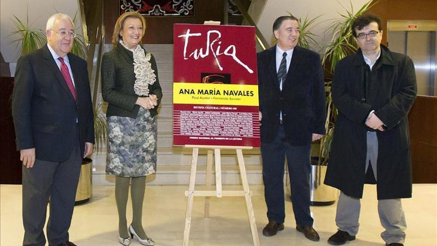 """La revista cultural """"Turia"""" cumple 30 años con un homenaje a Ana María Navales"""