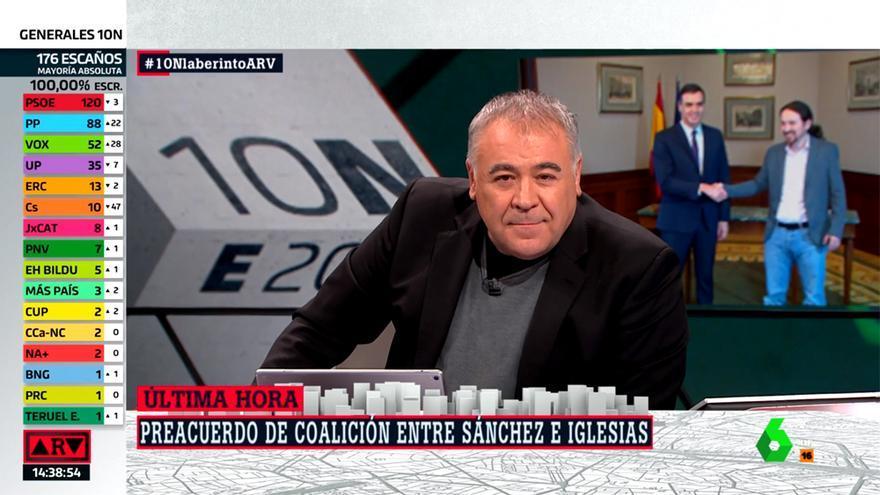 Ferreras en 'Al Rojo Vivo' con nuevo récord histórico